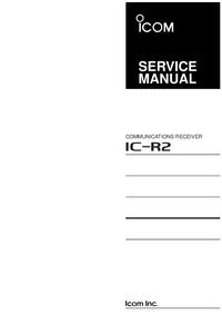 Serviceanleitung Icom IC-R2