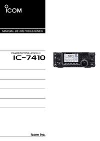 Gebruikershandleiding Icom IC-7410