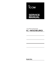 Manual de servicio Icom IC-M501EURO