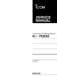 Manual de servicio Icom IC-7000