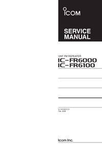 Manual de servicio Icom IC-FR6000