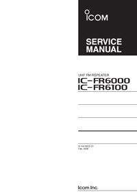 Manuale di servizio Icom IC-FR6000