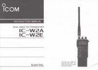Manual de servicio Icom IC-W2E