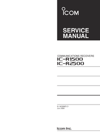 Service Manual Icom IC-r1500