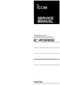 Manual de servicio Icom IC-pcr100
