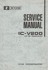 manuel de réparation Icom IC-V200