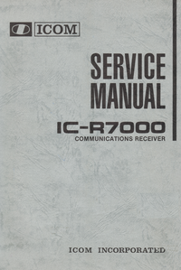 Manual de servicio Icom IC-R7000