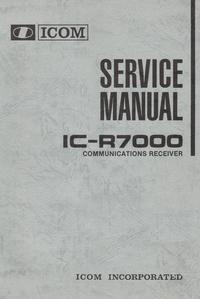 Manual de serviço Icom IC-R7000