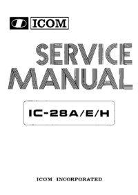 Service Manual Icom IC-28A