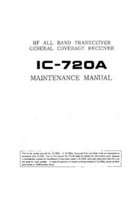 Serviceanleitung Icom IC-720A