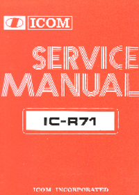 Service Manual Icom IC-R71