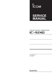manuel de réparation Icom IC-92AD