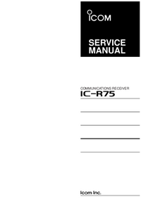 Manual de servicio Icom IC-R75