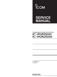 Manual de servicio Icom IC-PCR2500