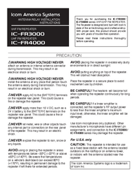 User Manual Icom IC-FR3000