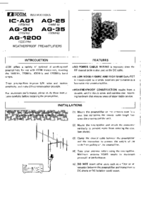 User Manual Icom IC-AG 35
