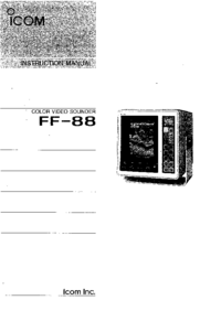Manual del usuario Icom FF-88