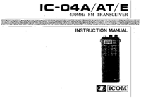 User Manual Icom IC-04E