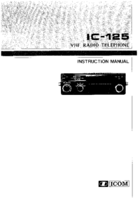 User Manual Icom IC-125