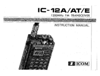 Manual del usuario Icom IC-12A