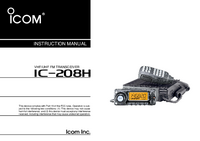User Manual Icom IC-208H