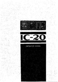 Bedienungsanleitung mit Schaltplan Icom IC-20