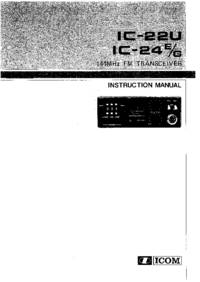 Bedienungsanleitung Icom IC-24G
