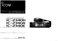 Руководство пользователя Icom IC-2340A