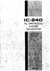 Service and User Manual Icom IC-240