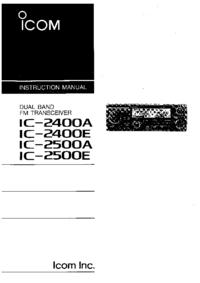 Manuel de l'utilisateur Icom IC-2400E