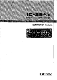 User Manual Icom IC-25E