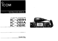 User Manual Icom IC-281A