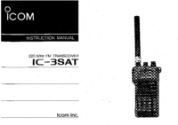 User Manual Icom IC-3SAT