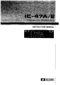 User Manual Icom IC-47E