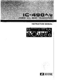User Manual Icom IC-490A