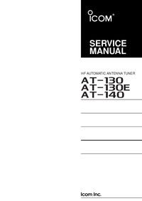 Service Manual Icom AT-130E