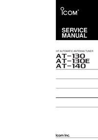 Serviceanleitung Icom AT-130