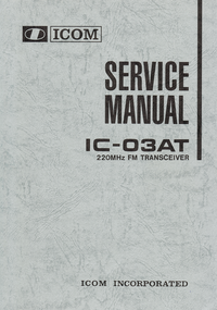 Service Manual Icom IC-03AT