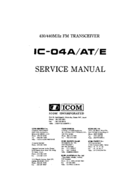 Service Manual Icom IC-04A