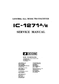 Service Manual Icom IC-1271E
