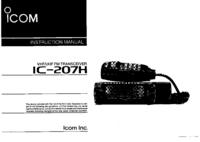 Руководство пользователя Icom IC-207H