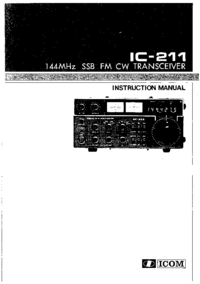 Servicio y Manual del usuario Icom IC-211