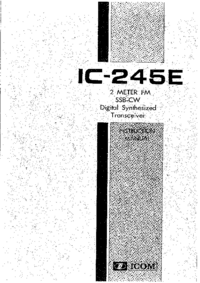 Service and User Manual Icom IC-245E