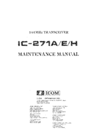 Service Manual Icom IC-271A