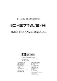 Manuale di servizio Icom IC-271E
