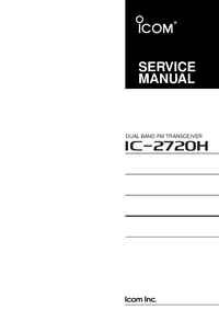 Manual de servicio Icom IC-2720H