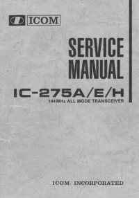 Service Manual Icom IC-275E