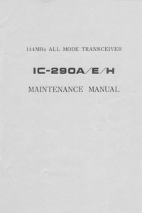 Manual de servicio Icom IC-290H