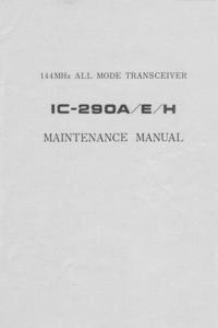 Service Manual Icom IC-290H