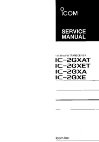 Service Manual Icom IC-2GXET